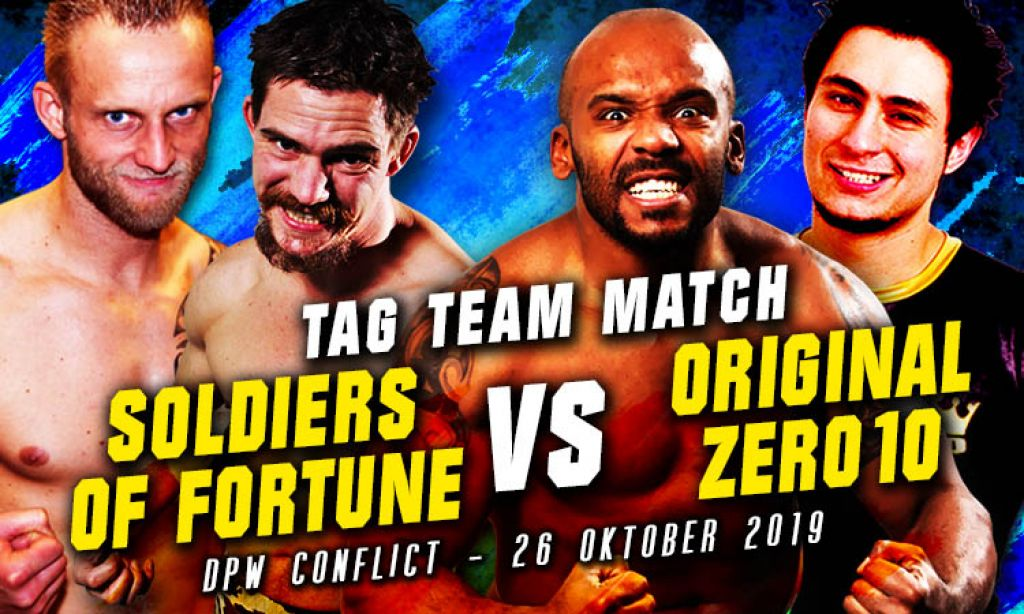 DPW CONFLICT - TAG TEAM ACTION – ORIGINAL ZER010 REUNITES TO TAKE ON SOLDIERS OF FORTUNE
