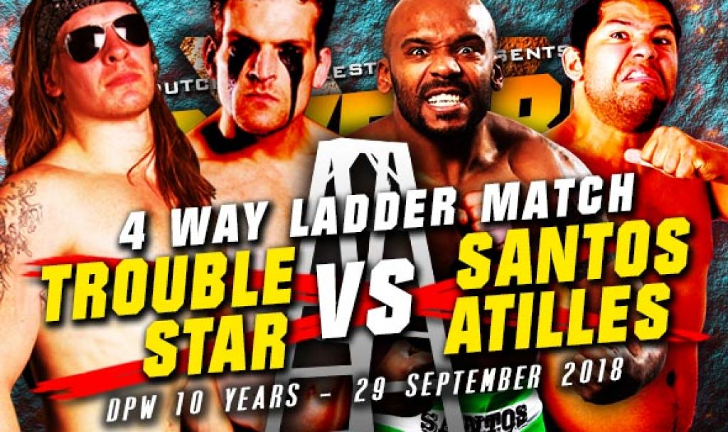 DPW X – 4-WAY HIGH STAKES LADDER MATCH: